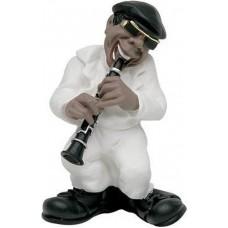 Antartidee - beeldje - klarinet - speler - jazz - band - Italiaans - Design