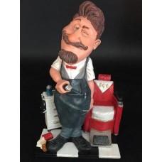 Barbier - kapper – beeldje – kappersstoel – beroepen – funny jobs