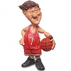 Basketballer - funny sports - beeldje - warren stratford - 11x7.5x18cm