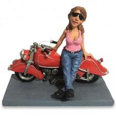 Biker woman beeldje Warren Stratford 0669pla