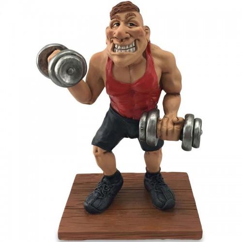 Beeldje bodybuilder Warren Stratford