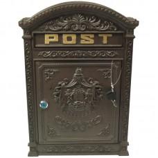 Bruine gietijzeren brievenbus