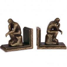 De denker - Rodin - boekensteunen - gietijzer - 12.8x7.5x13.4cm
