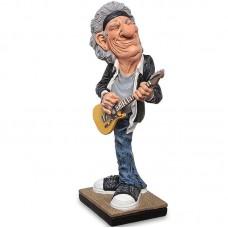 Gitarist - Keith Richards - Rolling Stones - beeldje - warren stratford - 9x7.5x16cm