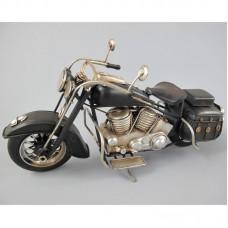 Harley Davidson stijl - motor - blik - zwart - 28x14x10cm