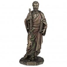 Hippocrates - beeldje - bronskleurig - aesculaap - eed van hippocrates - 12x10x26cm