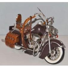 Indian blikken motor jaren 40  blik  lederen  tassen