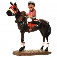 Jockey – paard – prijs winnaar – sport – beeldje – funny sports – warren stratford – 18.5x9x20.5 cm