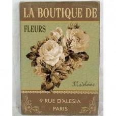 La Boutique de fleurs Madeleine canvas schilderij 2412me