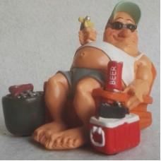 Luilak - zonaanbidder – funny jobs - beeldje – warren stratford – 12x10x10 cm