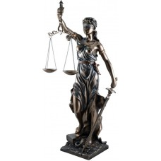 MadDeco - beeld - Vrouwe - Justitia - polystone - 29x26x75