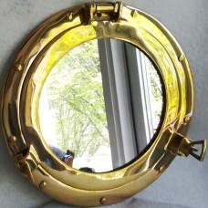MadDeco spiegel messing - patrijspoort