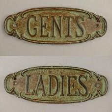 MadDeco toilet borden gents - ladies ovaal - groen