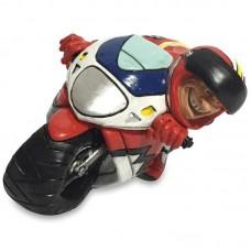 Motorcoureur plus motor beeldje Warren Stratford 1669