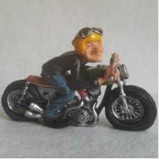 Motorrijder - toeren - motor - beeldje – funny jobs – warren stratford – 16v6x10 cm