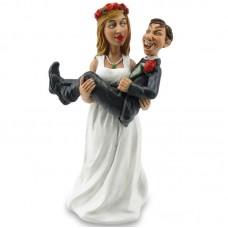 Op handen gedragen funny wedding beeldje Warren Stratford 3002