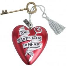 Rood hart valentijnscadeau you hold the key to my heart