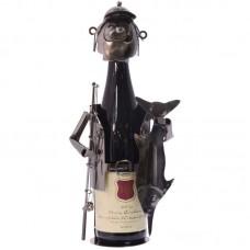 Sportvisser wijnfleshouder