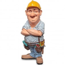 Timmerman – beeldje - funny jobs – beroepen - warren stratford – 9x7x18cm