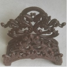 Tuinslang houder – bruin - gietijzer – wand bevestiging – 25x11x22.5 cm - Maddeco