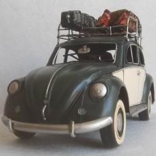 Volkswagen Kever - winter - blikken woondecoratie - met VW licentie - 35x13x18cm