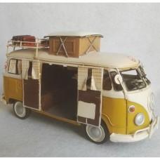 Volkswagen T1 bus - camper - blikken woondecoratie - met VW licentie - 25x12x15cm
