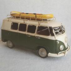 Volkswagen T1 bus met boot - blikken woondecoratie - met VW licentie - 27x12x14cm