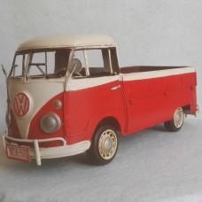 Volkswagen T1 bus - pick up - blikken woondecoratie - met VW licentie - 33x14x14cm