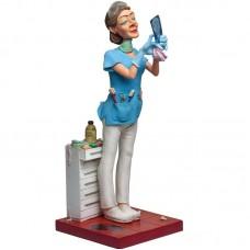 Vrouwelijke tandarts - beeldje van Forchino