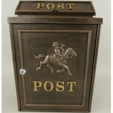 Wand brievenbus Bruin  Aluminium  Postpaard  brievenbus - paard