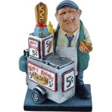 Warren - Stratford - beeldje - hotdog stand -verkoper  hotdogkar