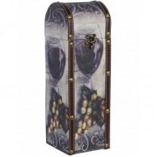 Wijnfleshouder met afbeelding wijn in wijnglas