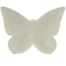 Wit keramieken schaaltje in vorm van vlinder ksbg