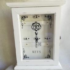 Wit sleutelkastje