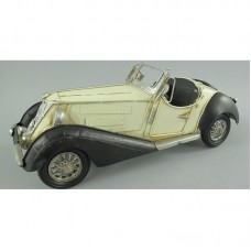 Witte cabrio - blikken auto - klassieker  110133