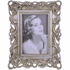 Bewerkte fotolijstjes in vintage stijl - zilverkleurig