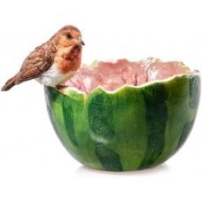 beeldje vogel badje meloen polystone maddeco