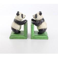 Gietijzeren - boekensteun - panda - beren - boekensteunen