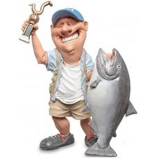 beeldje sportvisser Warren Stratford