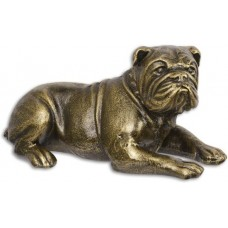Gietijzeren beeldje hond engelse bulldog maddeco