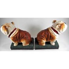 Gietijzeren  boekensteunen  bulldog  gietijzer  boekensteun