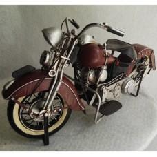 Blikken  motor model harley  davidson  donkerrood rood  blik