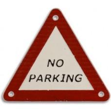 Gietijzeren  wandbord  No  Parking  gevaren  driehoek  gietijzer  maddeco