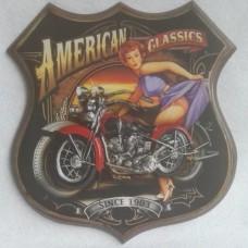 wandbord American Classics reclamebord route 66