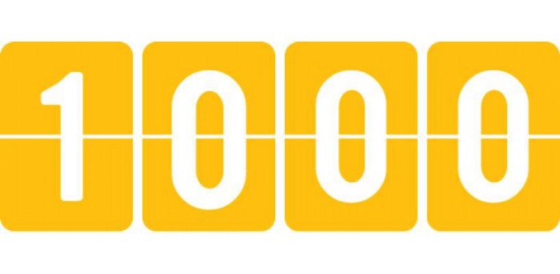 Nieuwe mijlpaal - 1000 producten in onze webshop