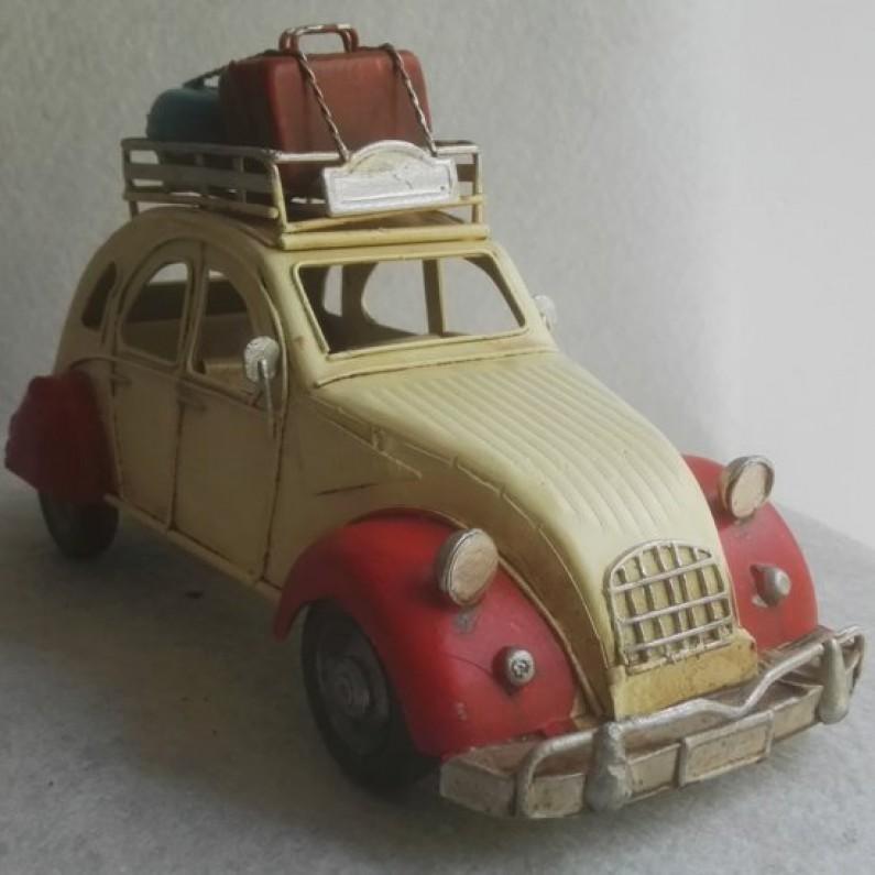Blikken model auto Citroen  2cv  koffers maddeco