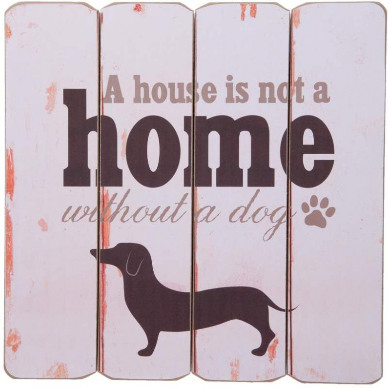 A house is not a home teckel decoratiebord clayre and eef