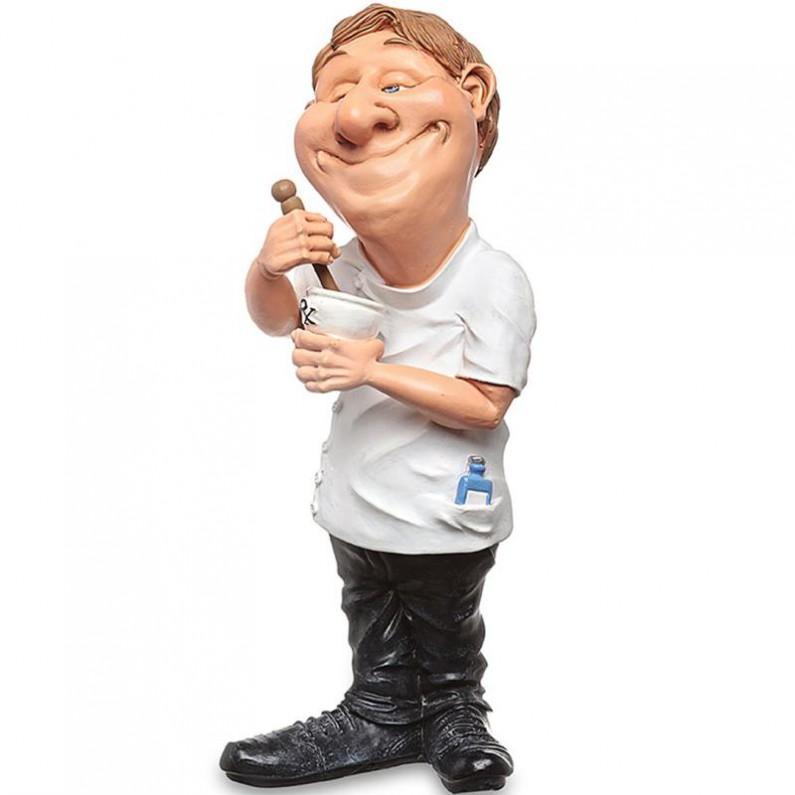 Apotheker - beeldje - funny jobs - beroepen - warren stratford - 9x9x20cm