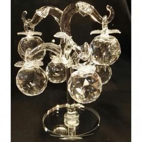 Appelboom met 6 appels van kristal