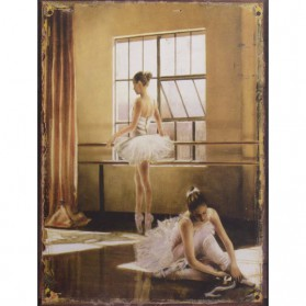 Ballet decoratie bordje portret